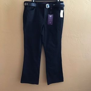 NWT Gloria Vanderbilt Black Jean Sz 16W Boot Cut